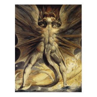 Red Dragon Art William Blake Postcard