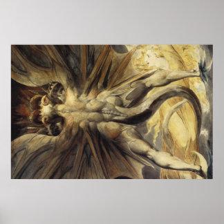 Red Dragon Art William Blake Poster