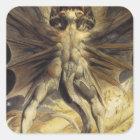 Red Dragon Art William Blake Square Sticker