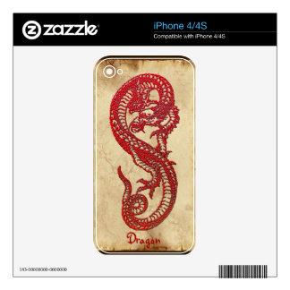 Red Dragon Asian Fantasy Art iPhone 4 Skin