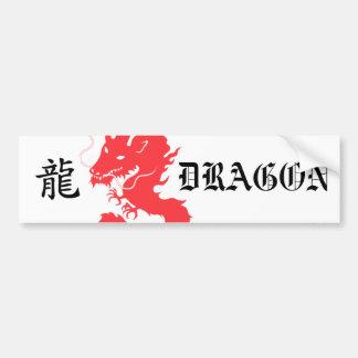 Red Dragon Asian Letter Bumper sticker