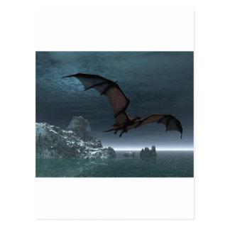 Red Dragon at Night Postcard