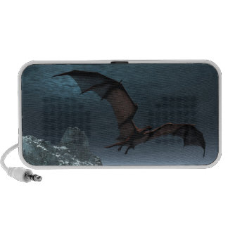 Red Dragon at Night Travel Speakers