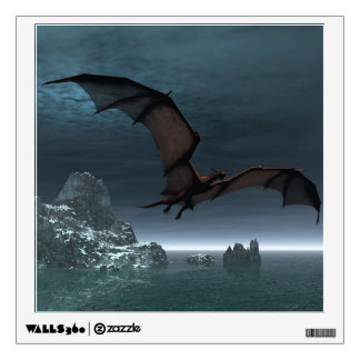 Red Dragon at Night Wall Decal