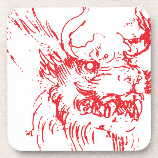 Red Dragon Beverage Coaster