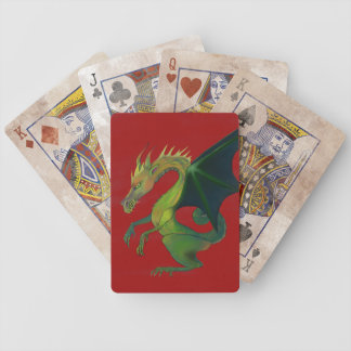 Red Dragon Bicycle Playing Cards
