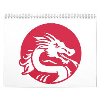 Red dragon calendar