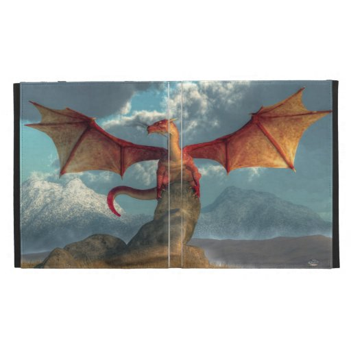 Red Dragon iPad Folio Cover