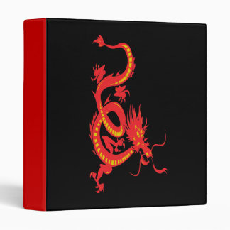 Red Dragon Chinese New Year Binder
