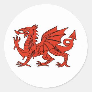 Red Dragon Classic Round Sticker