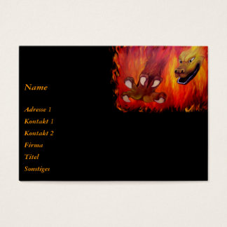 Red Dragon claw Business Card