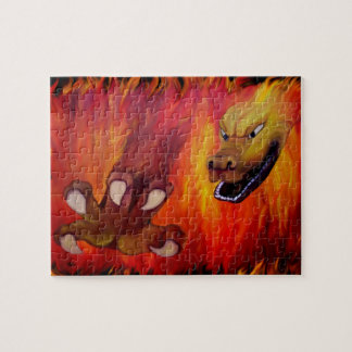 Red Dragon Claw Jigsaw Puzzle