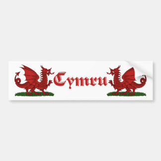 Red Dragon Cymru Bumper Sticker