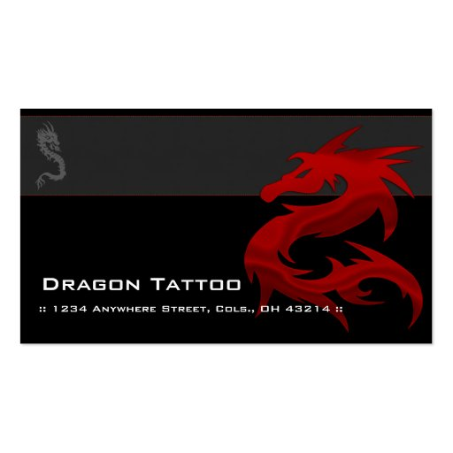 Tattoo business cards business card templates page2 bizcardstudio red dragon d2 asian tattoo unique business cards accmission Image collections