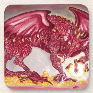 Red Dragon Drink Coaster