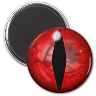 Red Dragon Eye 2 Inch Round Magnet