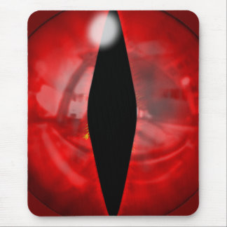 Red Dragon Eye Mouse Pad