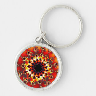 Red Dragon Eye Premium Small Round Keychain