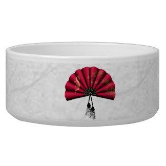 Red Dragon Fan Pixel Art Bowl