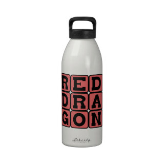 Red Dragon Fire-Breathing Creature Drinking Bottle