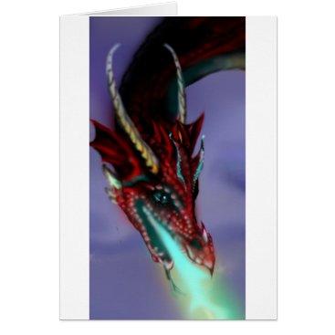 pegacorna Red Dragon Fire Flames Magic Cute Crimson Card