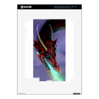 Red Dragon Fire Flames Magic Cute Crimson iPad 3 Decal