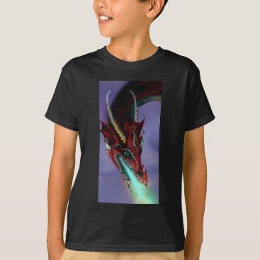 pegacorna Red Dragon Fire Flames Magic Cute Crimson T-Shirt