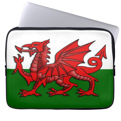 Red Dragon Flag of Wales _ Computer Sleeves