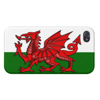 Red Dragon Flag of Wales _ Cover For iPhone 4