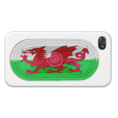 Red Dragon Flag Of Wales Speaker Effect iPhone 4 iPhone 4 Case at Zazzle