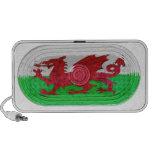 Red Dragon Flag Of Wales Speaker Effect On Doodle