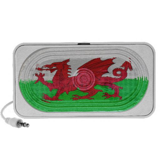 Red Dragon Flag Of Wales Speaker Effect On Doodle