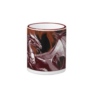 Red Dragon & Flames Fantasy Mug