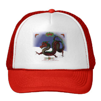 Red Dragon Holiday Trucker Hat