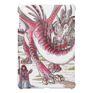 Red Dragon in Thawing Snow iPad Mini Cover