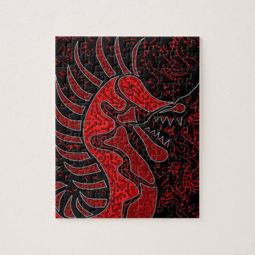 Red dragon jigsaw puzzle