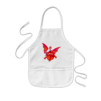 'Red Dragon' Kids Apron apron