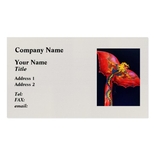 Red Dragon Kite Business Card Template