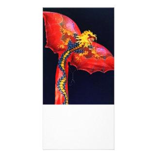 Red Dragon Kite Card