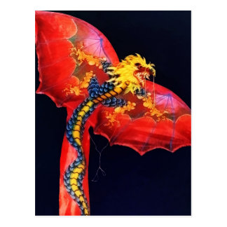 Red Dragon Kite Postcard