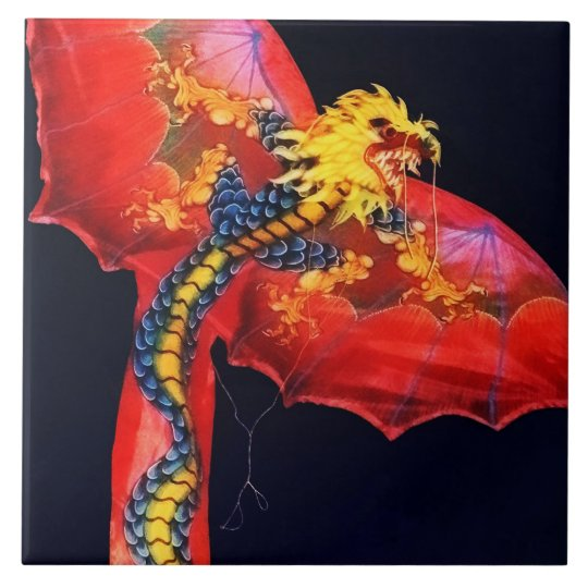 Red Dragon Kite Tile