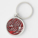 Red Dragon Knot Keychain