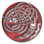 Red Dragon Knot Plate