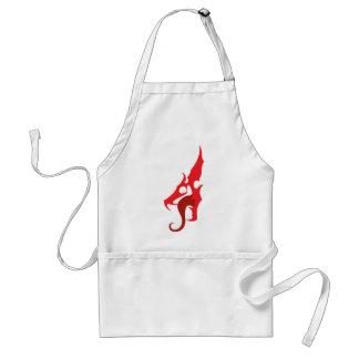 Red Dragon Logo Adult Apron