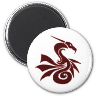 Red Dragon Refrigerator Magnet
