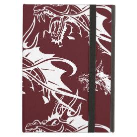 Red Dragon Mythical Creature Cool Fantasy Design iPad Folio Cases