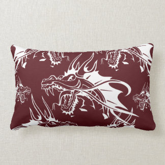 Red Dragon Mythical Creature Cool Fantasy Design Pillow
