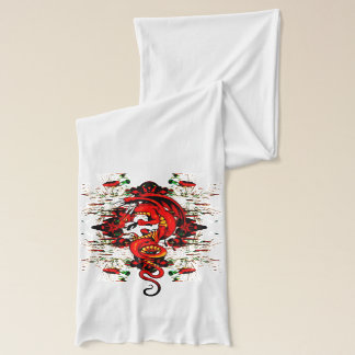 Red Dragon neck scarf