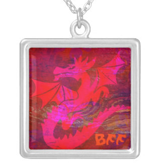 Red Dragon Necklace BFF