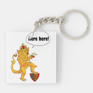 Red Dragon of Wales and Brave Lion of England Keychain